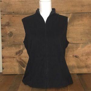 LL Bean Flannel Zip Up Vest-Misses
